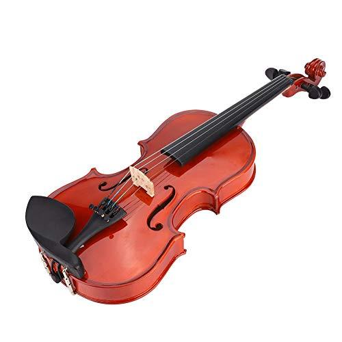 Fafeims Violine Elektrische Violine Hölzerne Violine IRIN AU-05 Elektrische Violine Massiv Astonvilla AV-03 Fichte Curly Maple 1/48 Violine mit Box Kolophonium String Aufkleber für Kinder