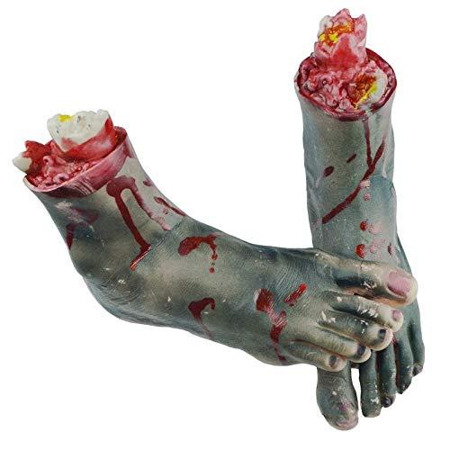 Armee Kostüm Party Themen - Monthyue Fake Arm/Hand/Fuß Beängstigender Blutiger Horror Blutige Gliedmaßen Abgetrennt Für Halloween Party Indoor Outdoor Prop Und Cosplay Dekor,B
