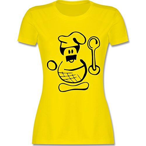 Küche - Küchenchef - tailliertes Premium T-Shirt mit Rundhalsausschnitt für Damen Lemon Gelb