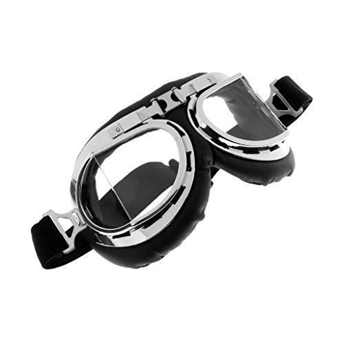 Gazechimp Motorradbrille Schutzbrille Roller Helm Fliegerbrille Gläser für Aktivitäten wie Radfahren, Klettern - Transparente Linse
