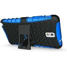 FALIANG Samsung Galaxy Note 3 Funda, 2in1 Armadura Combinación Neumáticos Patrón A Prueba de Choques Heavy Duty Escudo Cáscara Dura para Samsung Galaxy Note 3 (Azul)