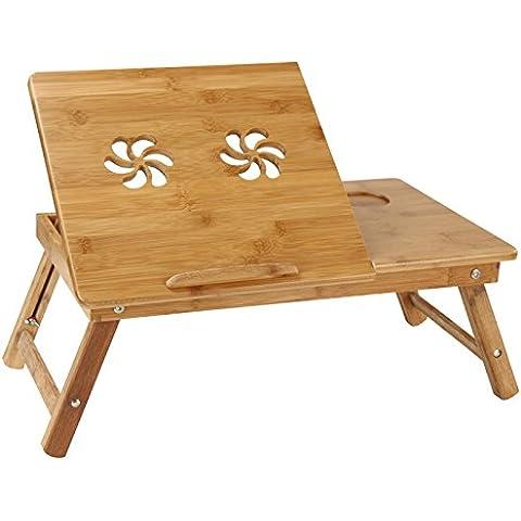 Miadomodo - Mesita de cama para portátil aprox. 53/29/33 cm