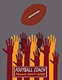 Youth Football Drill Book: 2019 to 2010 Academic Year Youth Coaching Notebook, Calendar, Blank Field Pages & Team Roster - Many Hands