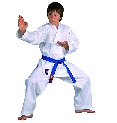 Karateanzug Dojo Line von DANRHO, weiß, 229049, Gr.120 (Kinder Anzug Weißen)