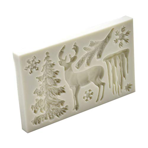 Bestonzon stampi silicone natale forma renna fiocco di neve albero di natale per biscotti torte