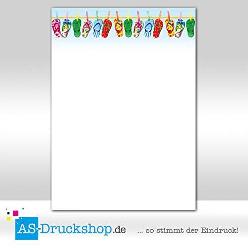 Designpapier Sommer - Flip Flops / 25 Blatt/DIN A4 / 90 g-Offsetpapier