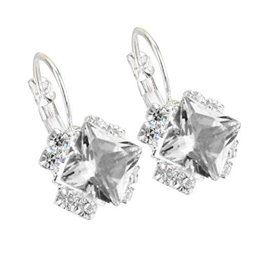 AchidistviQ Personalisierte Glänzende Ohrringe Korean Fashion Diamant Kristall Ohrstecker Damenmode Glänzende Strass Leverback Ohrringe Engagement Hochzeit Schmuck...