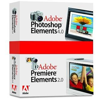 Adobe Photoshop Elements 4.0 plus Adobe Premiere Elements 2.0 - Ensemble complet - 1 utilisateur - CD - Win - français