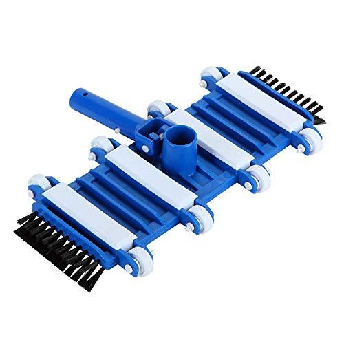 NOKMY Classic Flexibler Bodendüse für Schwimmbecken mit Vakuumkopf auf Rädern, 33,8 cm 18-inch blau/weiß