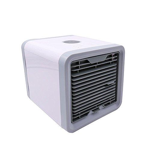 XXRH - Ventilador de Aire Acondicionado - Ventilador pequeño USB - humidificador - Blanco