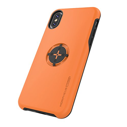 MORPHEUS LABS M4s Case für Apple iPhone X/XS, iPhone XS/iPhone X Hülle, Schutzhülle für iPhone 10 (Fahrradhalterung ist Nicht inklusive), passend für M4s BikeMount/Fahrradhalterung, orange