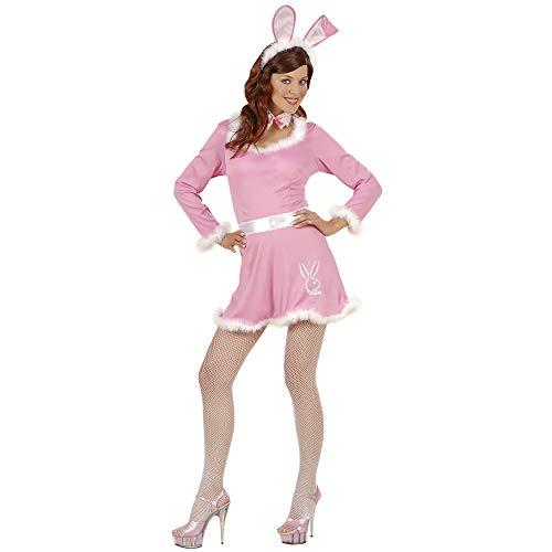 Widmann 56292 - Erwachsenenkostüm Bunny Girl, Kleid, Gürtel, Kragen mit Fliege und Ohren, Größe M