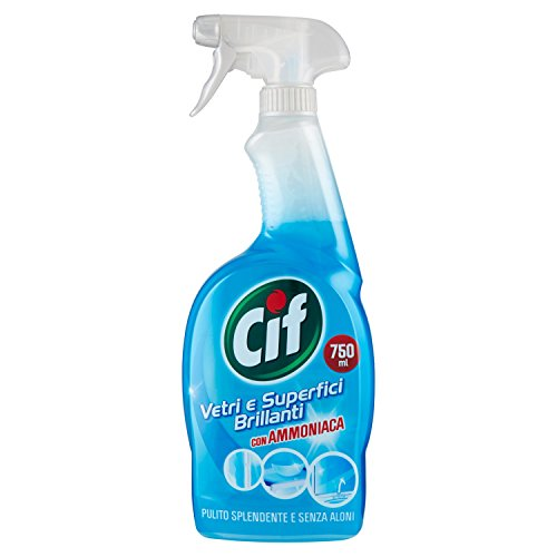 Cif-Reiniger, Glas und Bright Oberflächen mit Ammoniak, ohne Flecken-G750ML