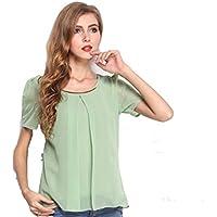 TYERY Camisa Fresca De Gasa,Matcha verde,M