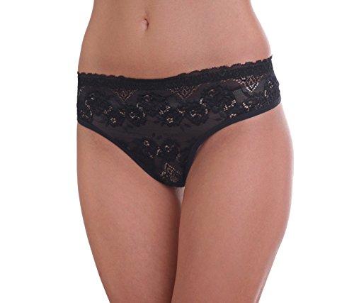 Damen Thong Tanga String Panties Schwarz