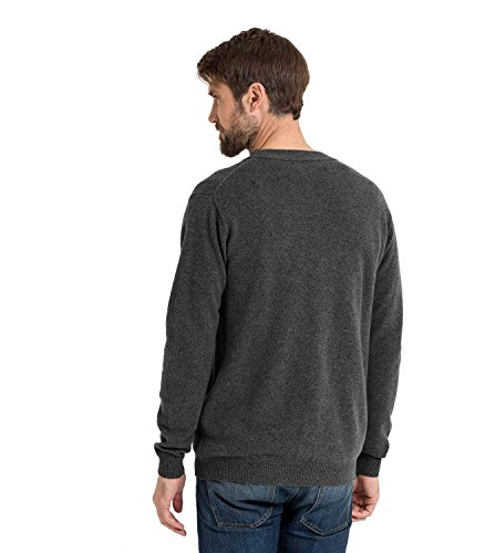 WoolOvers Cardigan à col V - Homme - Laine dagneau Anthracite