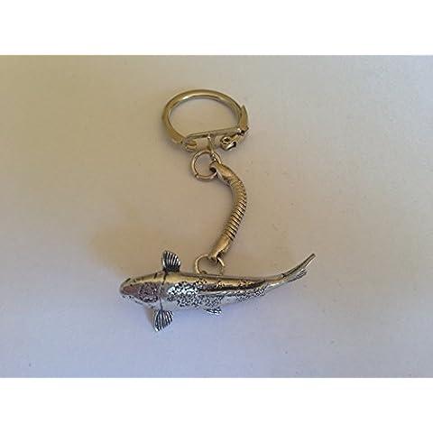 F28 Carpa Koi in porcellana fine English Pewter su prideindetails Portachiavi con serpente, fatta a mano, realizzata a mano in confezione regalo sheffield - Snake Porcellana