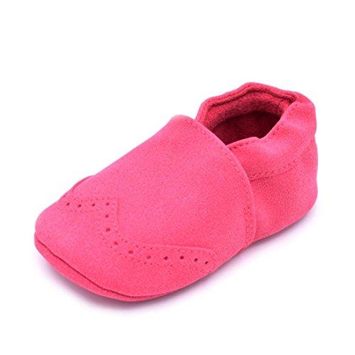 Chaussures Enfant Longra Chaussures le Bébé Bottes Prewalker Chaussures Tassel Soft Sole (Size:12, Gris) Rose vif