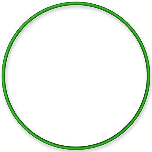 Hula-Hoop-Reifen, Gymnastikreifen stabil aus Aluminium, Farbe: grün