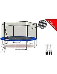 LS-T370-PA12 (BA) LifeStyle ProAktiv - Trampoline de Jardin - 370 cm - 12ft - - Fort Filet de Sécurité - 180kg Capasite - TÜV/GS/CE - Model 2017
