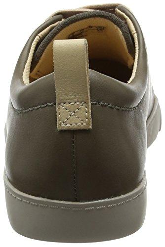 Clarks Glove Echo, Scarpe da Ginnastica Basse Donna Grigio (Grey Leather)