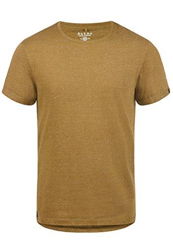 Blend Napito Herren T-Shirt Kurzarm Shirt Mit Rundhalsausschnitt, Größe:M, Farbe:Dijon Brown (75122)