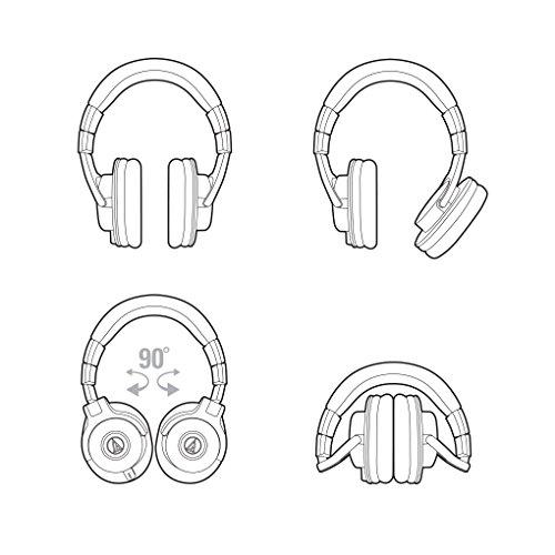 Audio Technica ATH-M40x DJ-Kopfhörer für Studio - 4