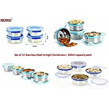 [Sponsored]Nonu Stainless Steel Airtight Storage Containers SET OF 12 PCS- 350ml Each……