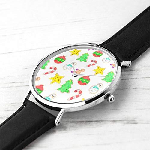 Unisex ultradünne Mode minimalistischen Armbanduhren Urlaub Cookies wasserdicht Quarz Casual Watch Mens Womens -