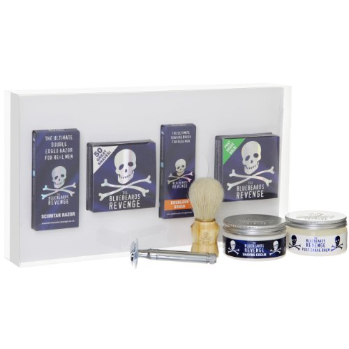 The Bluebeards Revenge Scimitar - Set da barba con rasoio di sicurezza