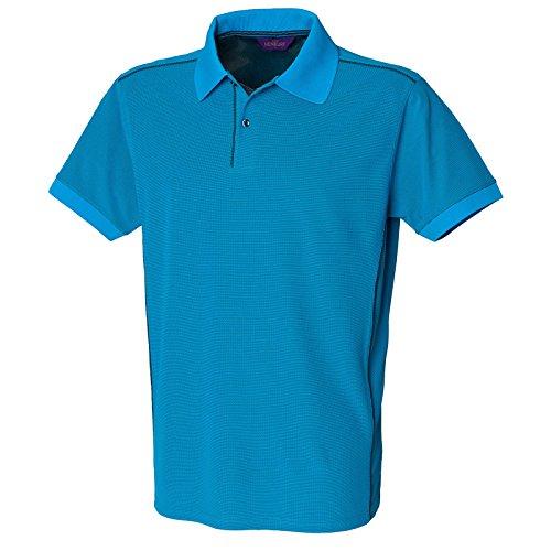 Henbury Herren Poloshirt - Sapphire/Navy