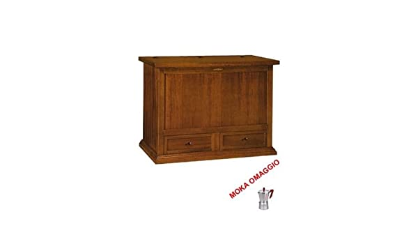 LAquila Design Arredamenti Classico Baule Mobile Porta Legna 2 cassetti Arte povera Soggiorno Ingresso 530 120x54x95