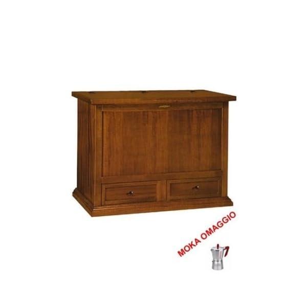 CLASSICO baule mobile porta legna 2 cassetti arte povera soggiorno ...
