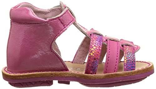 Minibel Keglaee17, Sandales Bébé Fille Multicolore (Fushia-Imp Fushia)
