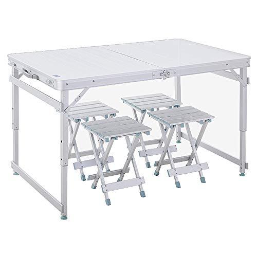 Table et chaises se pliantes extérieures d'alliage d'aluminium, table et chaises portatives auto-conduite de voiture, table et chaises se pliantes de barbecue de camping, table portative multifonction