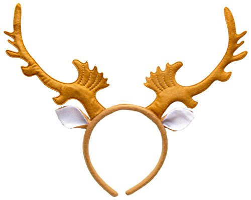 NEU Rentiergeweih, mit Ohren, auf (Idee Themed Weihnachten Kostüm)