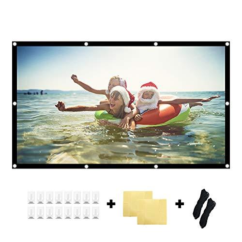 KPCB Beamer Leinwand 16: 9 HD 4K Faltbarer Faltenresistent, geeignet für Heimkino und Außenfilm (84 Zoll)