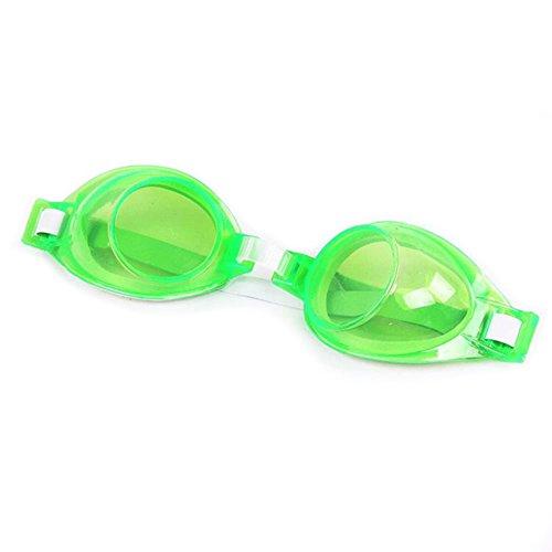 aubess Kinder Schwimmbrille, Anti-Fog Spiegel und antiallergische Silikon Pad grün grün