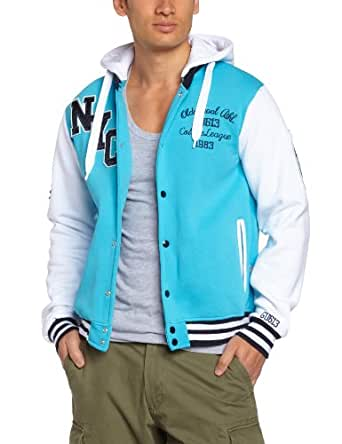 Gangster unit - all in d new - sweat-shirt à capuche - homme - multicolore (turquoise/white) - m