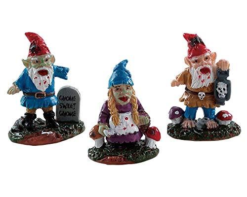 Small Zombie Garden Gnomes Set