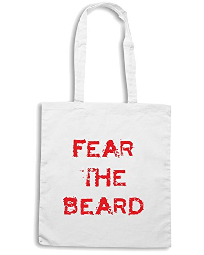 T-Shirtshock - Borsa Shopping OLDENG00076 fear the beard Bianco