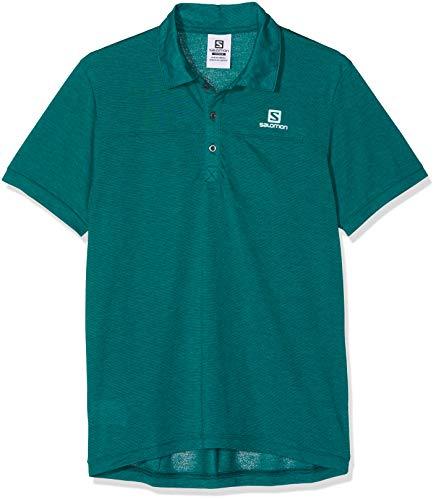 SALOMON Herren Explore Polo Shirt, Blau (Everglade), M