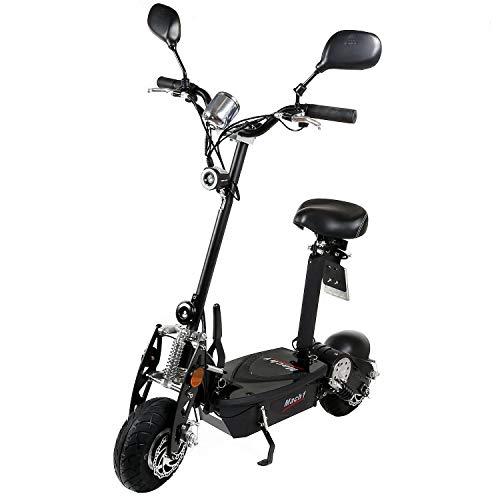 Mach1® Elektro E-Scooter mit EU Strassenzulassung 20Km/h Mofa Modell-2 Eec 36V/500W (Es Besteht Keine Helmpflicht für Diesen Scooter) (1 x 36V-15Ah CSB Akku)