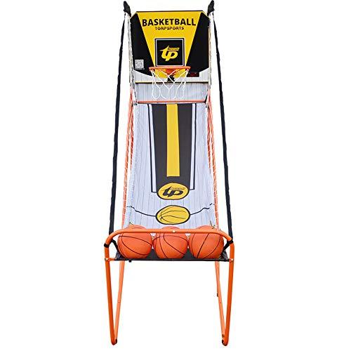 Aro De Baloncesto Arcade De Juego De Un Solo Sistema De Disparo Plegable Soporte del Baloncesto Al Aire Libre, con Bomba ElectróNica Anotador/Bola/Aire