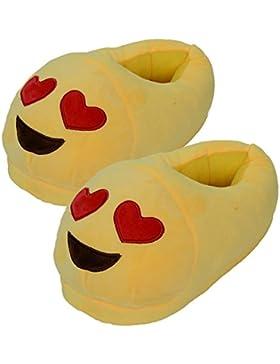 Unisex Jungen Mädchen Emoji Hausschuhe