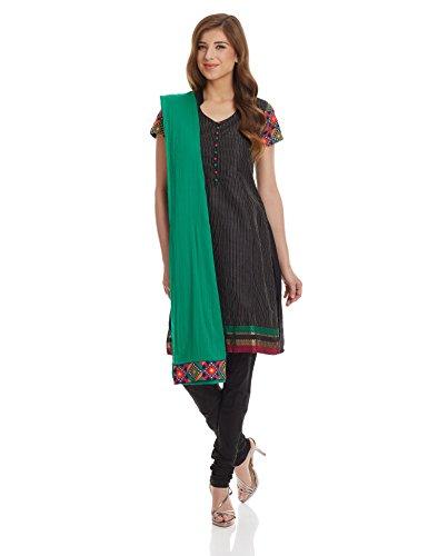 Biba Women's A-Line Salwar Suit (SKD # 4099_Black_42)