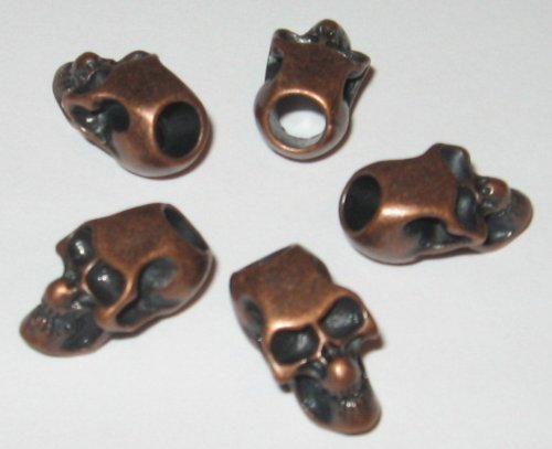 10-metal-copper-skull-beads-for-550-paracord-bracelets-lanyards-other-projects-by-ibk-craft-supply