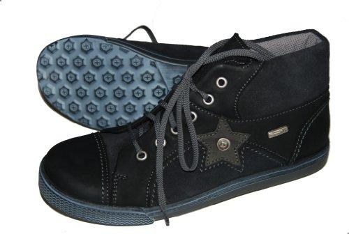 Däumling Kinderschuh, Jungen Schuhe, Kletterschuh, Lederschuhe schwarz (Denver schwarz)