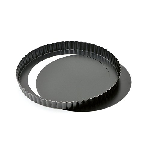Cake - Moule à Tarte/Moule à Quiche - Fond Amovible - Revêtement Antiadhésif - Ø 32 * 3 cm