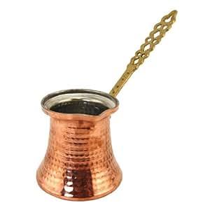 Pot de café turc cuivre Ibrik Cezve avec une poignée en métal